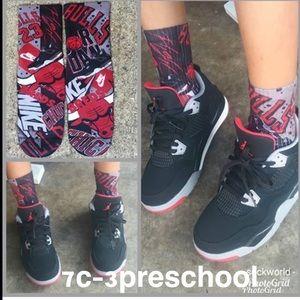 Bred 4s socks